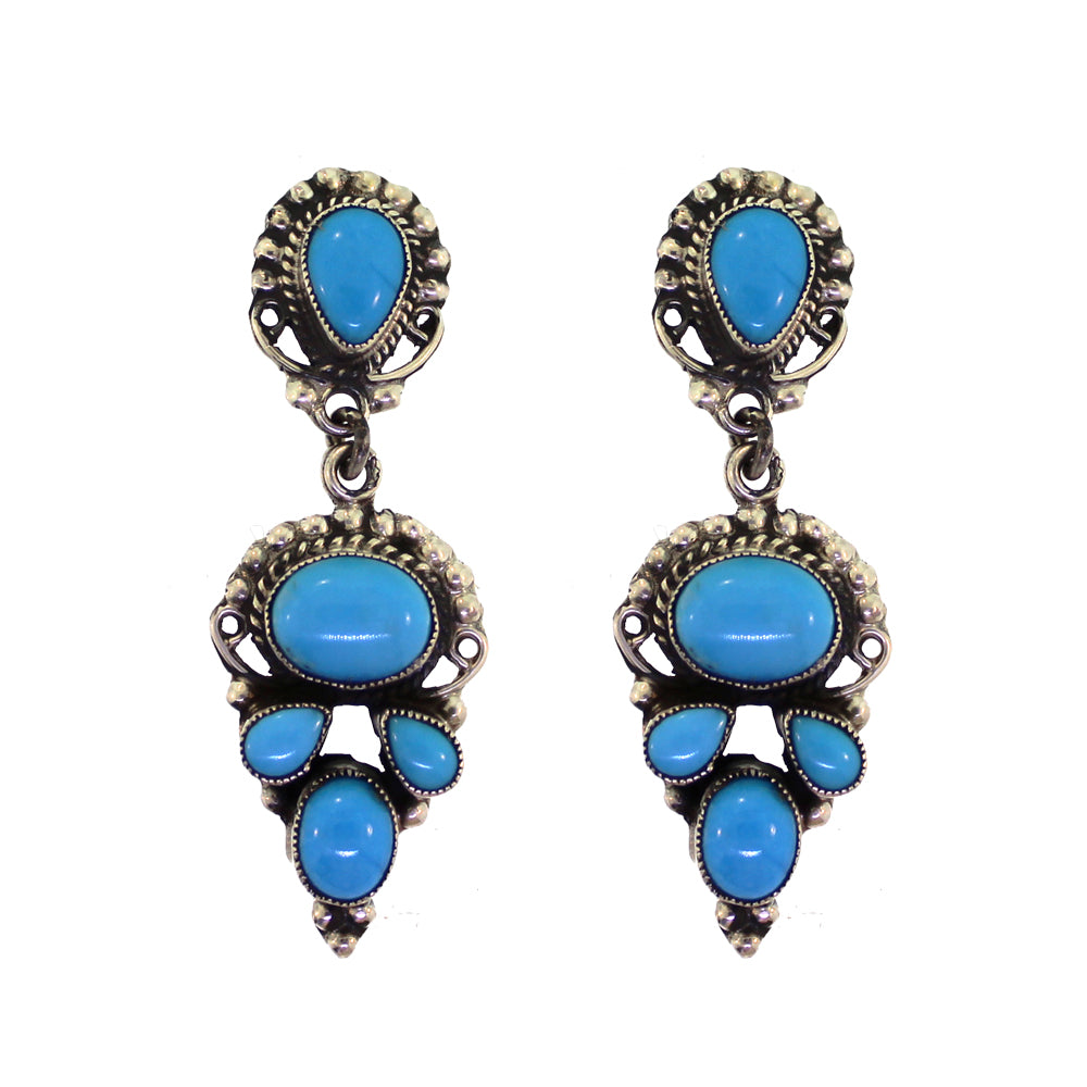 Leo Feeney Sleeping Beauty Turquoise Earrings