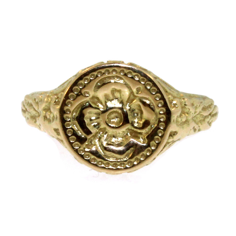 Flower Signet Ring