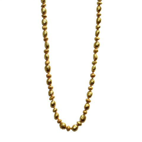 Organic Gold Bead Necklace