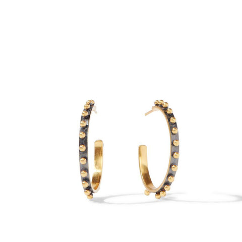 Black & Gold Large Hoops