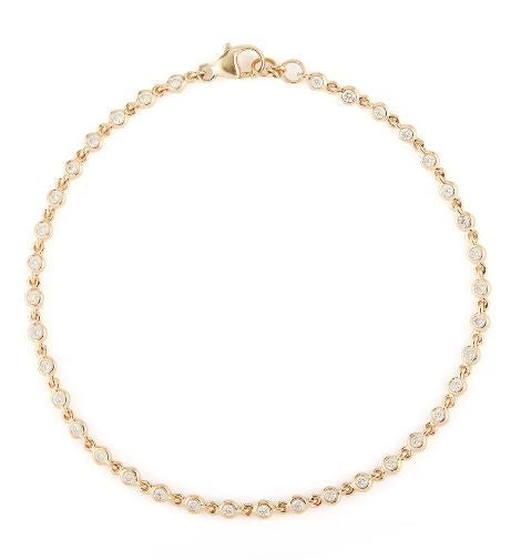 Lulu Jack Single Row Bezel Bracelet