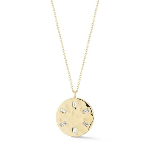 Cynthia Rose Hammered Disc Necklace