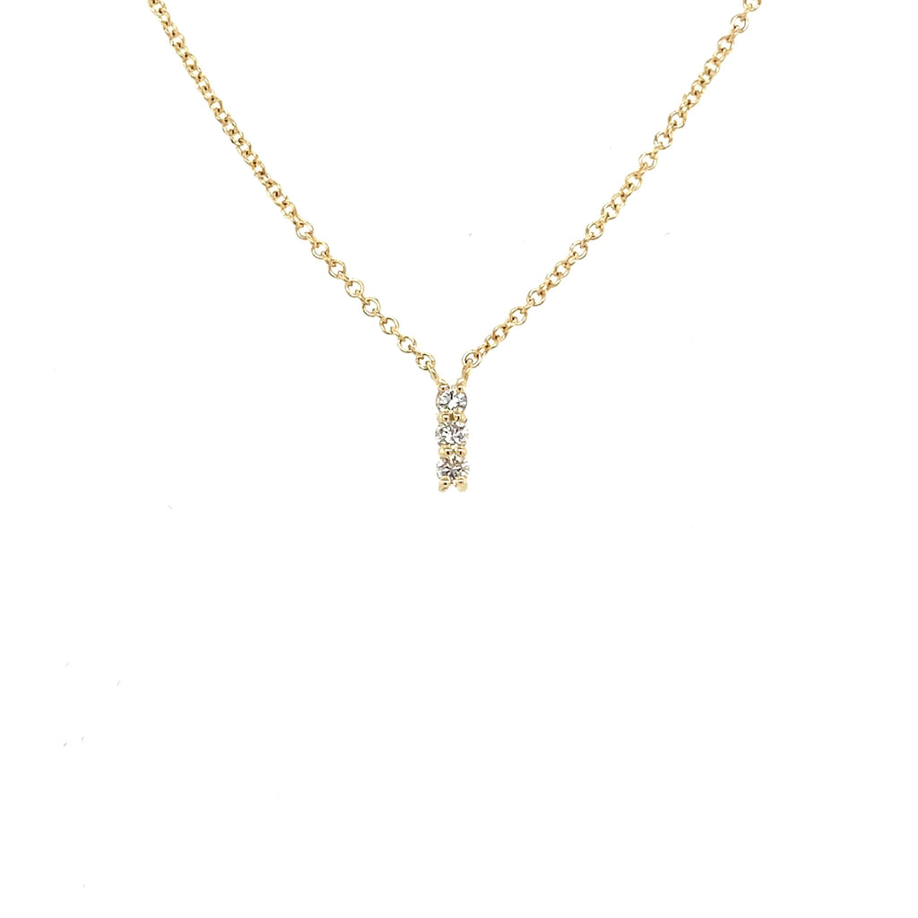 Diamond Bar Drop Necklace