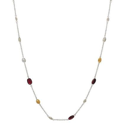 Spell Station Nugget Garnet Necklace