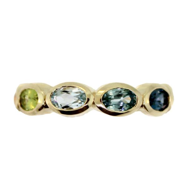 Oval Eternity Rainbow Ring