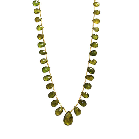 Graduated Peridot Necklace