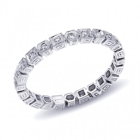 Alternating Stone Diamond Eternity Band