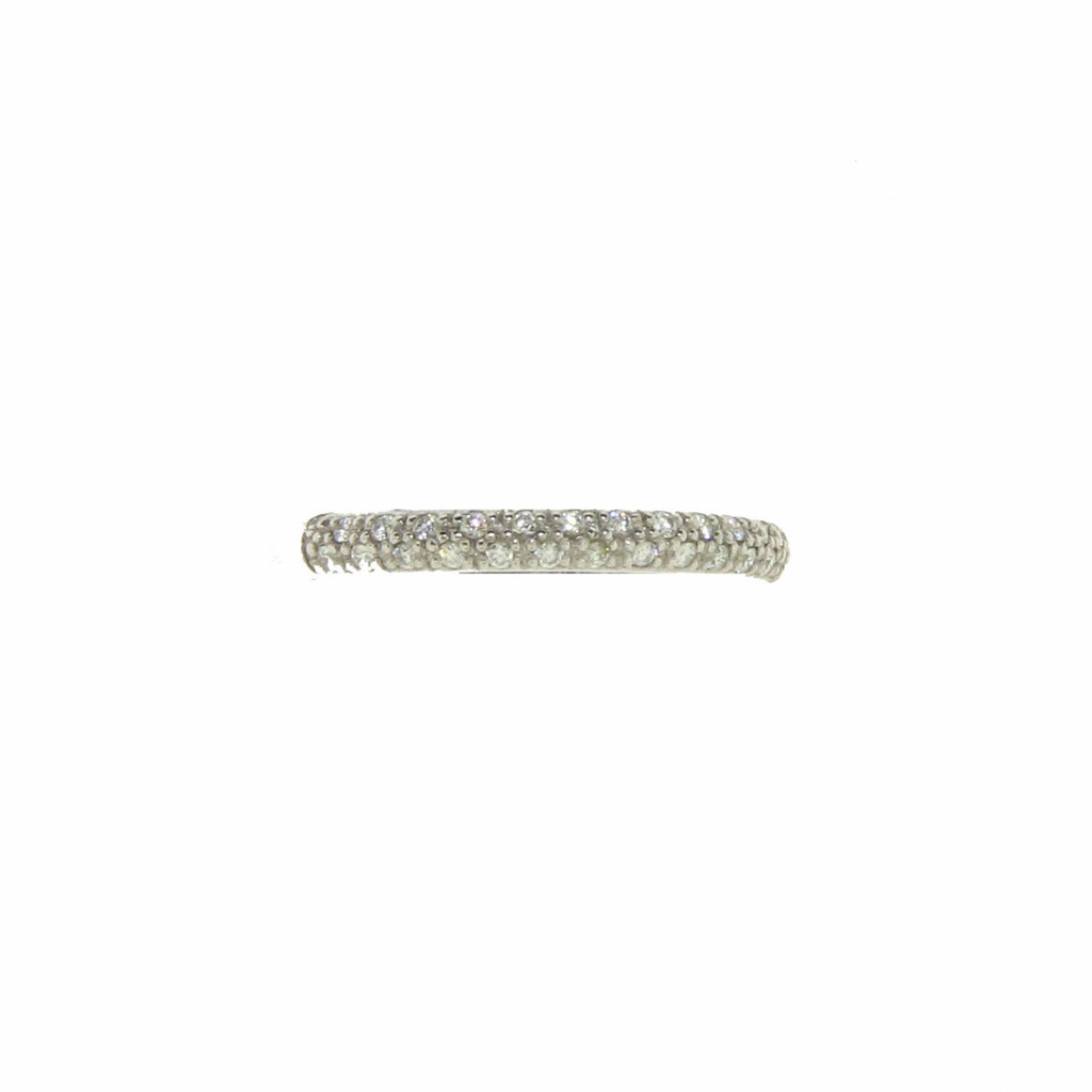 Hidalgo 18k White Gold Diamond Pave Ring