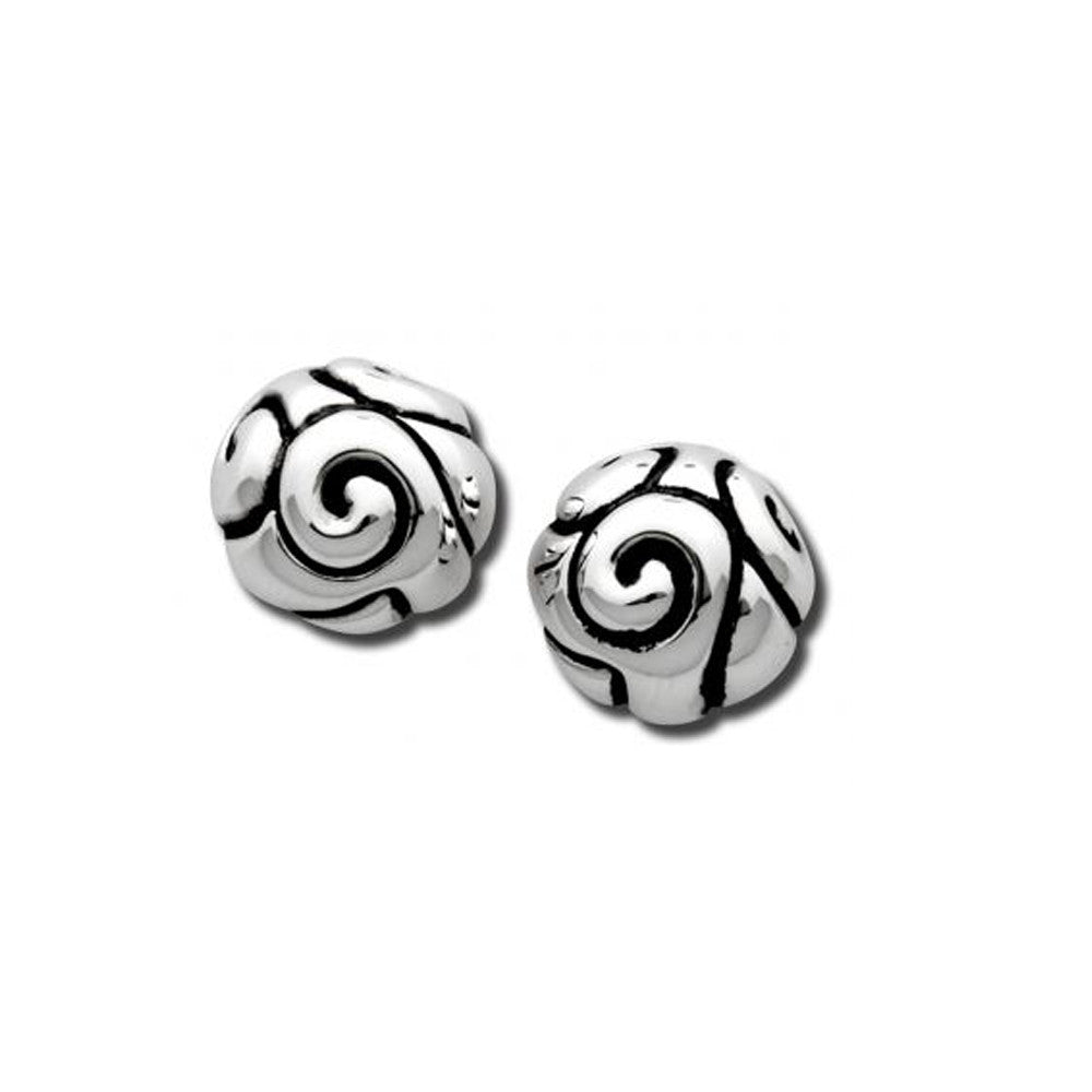 Small Swirl Dome Earrings