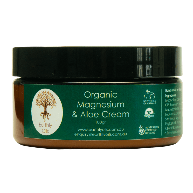 Earthly Oils Organic Magnesium and Aloe Vera Cream