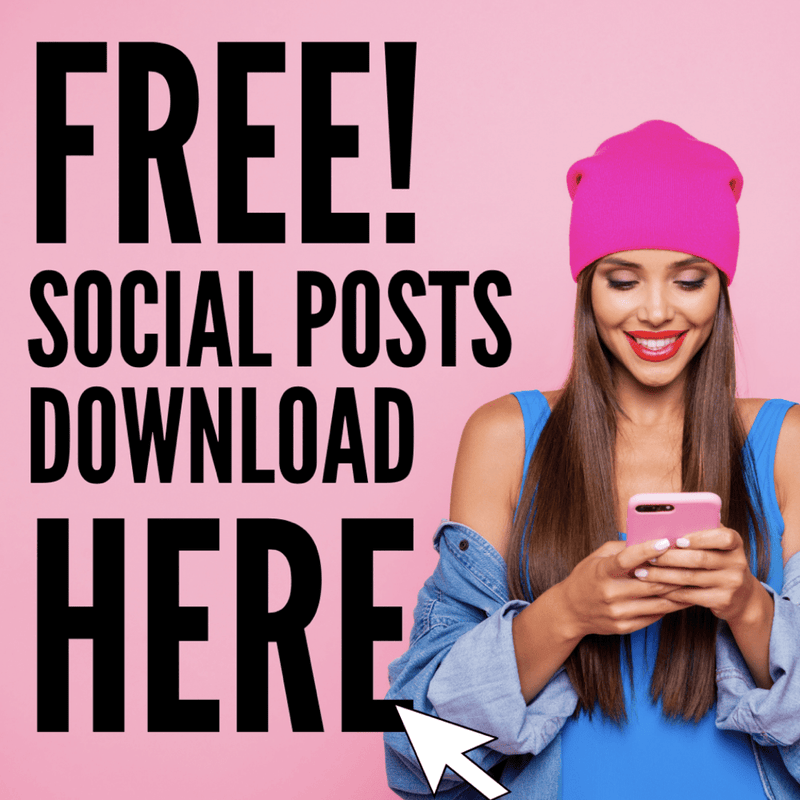 FREE Downloadable Social Post Pack for Summer