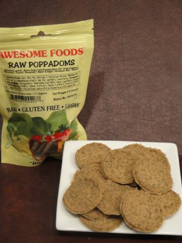 AWESOME FOODS | Poppadoms, Raw [Gluten Free] [Organic] [4.00oz ]