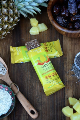 AMRITA | Pineapple Chia Endurance Bars [Gluten Free] [Kosher] [1.80oz ]