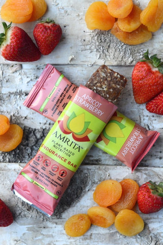 AMRITA | Apricot Strawberry Endurance Bars [Gluten Free] [Kosher] [1.80oz ]