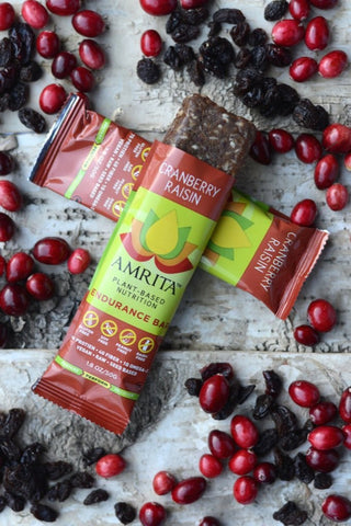 AMRITA | Cranberry Raisin Endurance Bars [Gluten Free] [Kosher] [1.80oz ]