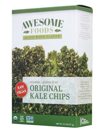 AWESOME FOODS | Kale Chips, Raw [Gluten Free] [Organic] [2.50oz ]