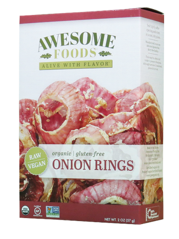 AWESOME FOODS | Onion Rings, Raw [Gluten Free] [Organic] [2.00oz ]