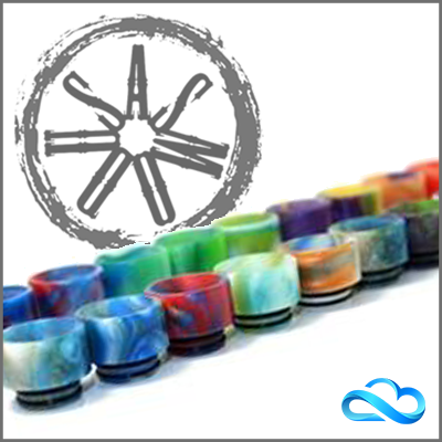 ASMODUS CUSTOM RESIN STUMPY WIDE BORE DRIP TIP