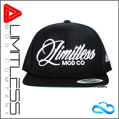 Limitless Black Snapback Cap - Front