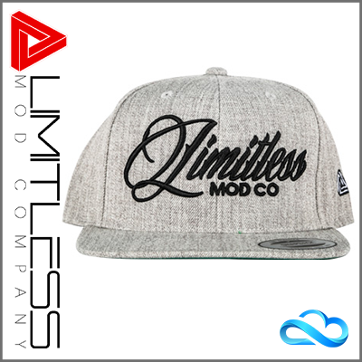 Limitless Grey Snapback Cap - Front