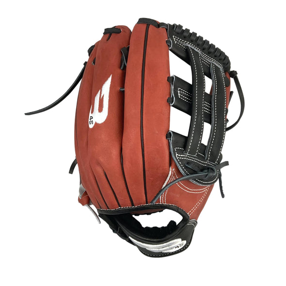 "B45 Baseball Canada Fielding Gloves Right-Hand Throw / White and Black Elite Series 12.75"" H-Web Baseball Glove"