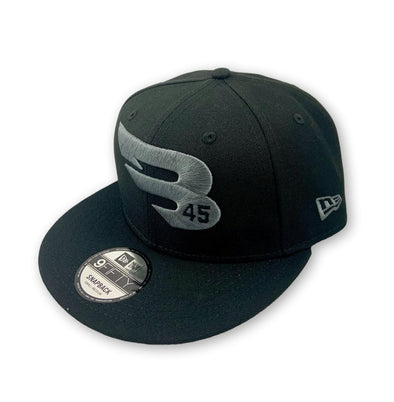 New Era Cap Headwear Black 9FIFTY New Era Snapback Hat - Charcoal Logo Edition