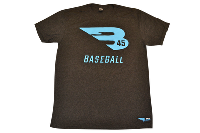 B45 Apparel Charcoal with Blue logo / Small B45 First To Believe Premium T-Shirt