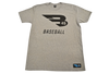 B45 Apparel Gray with Black logo / Small B45 First To Believe Premium T-Shirt