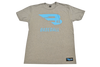 B45 Apparel Gray with Blue logo / Small B45 First To Believe Premium T-Shirt