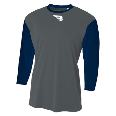 B45 Baseball Apparel 3/4 Performance T-Shirt