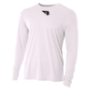 B45 Baseball Apparel Small / White Relaxed Long Sleeve Performance T-Shirt