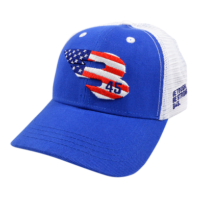 B45 Baseball Canada Apparel USA (Royal/White) B45 Trucker Hat - USA edition