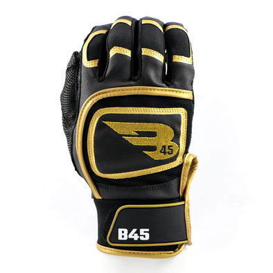 B45 Baseball Canada Batting Gloves Small / Black/Gold Midnight Series Batting Gloves