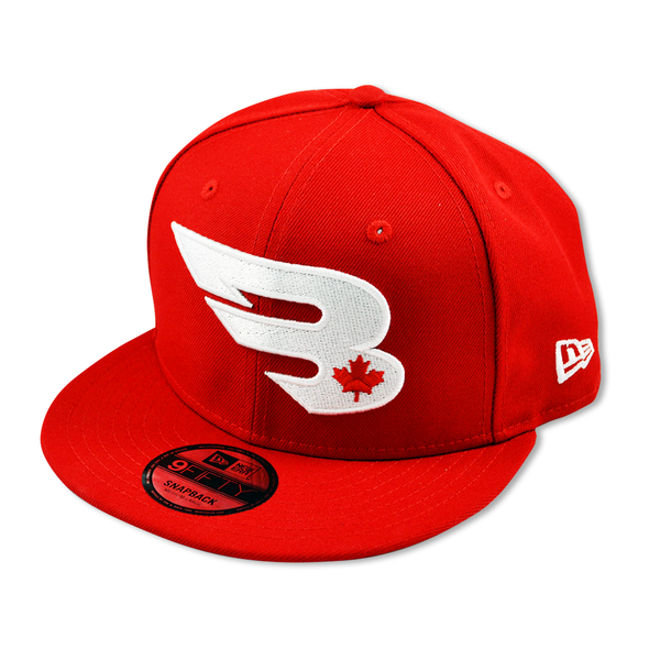 New Era Cap Headwear Small-Medium Red 9FIFTY New Era Snapback Hat | North Edition
