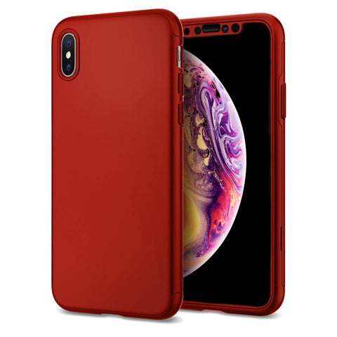 Apple iPhone XS 360 Rote Hülle