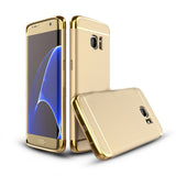 3in1 Samsung Galaxy S7 EDGE goldene Hülle