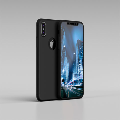 Copy of Apple iPhone XS 360 schwarze Hülle