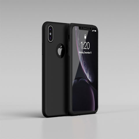 Apple iPhone XS Max 360 schwarze Hülle