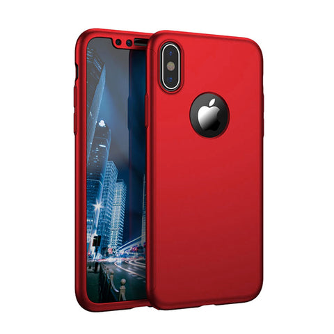 Apple iPhone X 360 Red Hülle