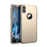 Apple iPhone X 360  goldene Hülle