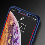 Apple iPhone XS 360 Blaue Hülle