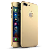 360 Apple iPhone 8 Plus 360 goldene Hülle