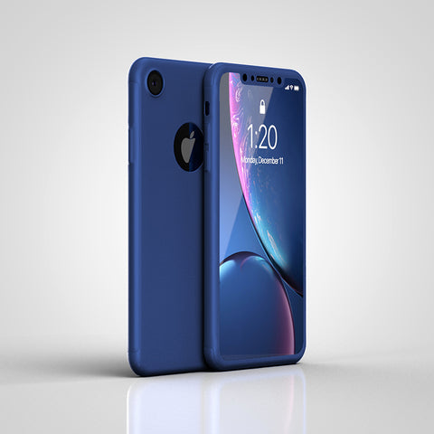 Apple iPhone XR 360 blaue Hülle