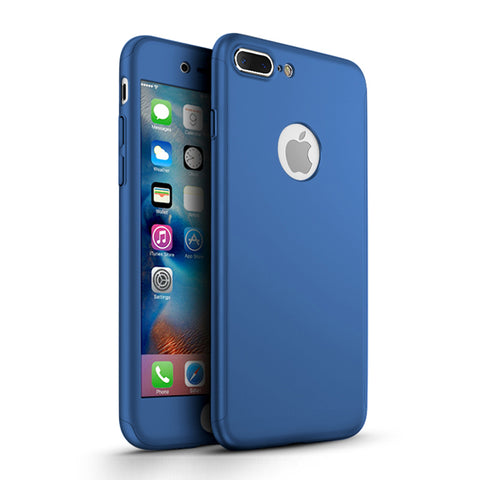 Apple iPhone 7 Plus 360 blaue Hülle