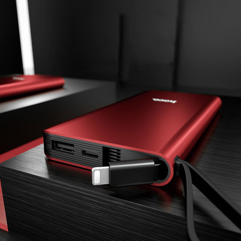 Rote Apple Lightning Powerbank 10000 mAh