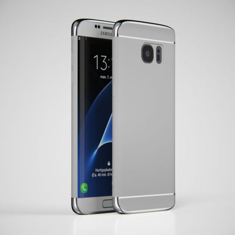3in1 Samsung Galaxy S7 EDGE Silber Hülle
