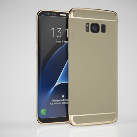 3in1 Samsung Galaxy S8 Gold Hülle