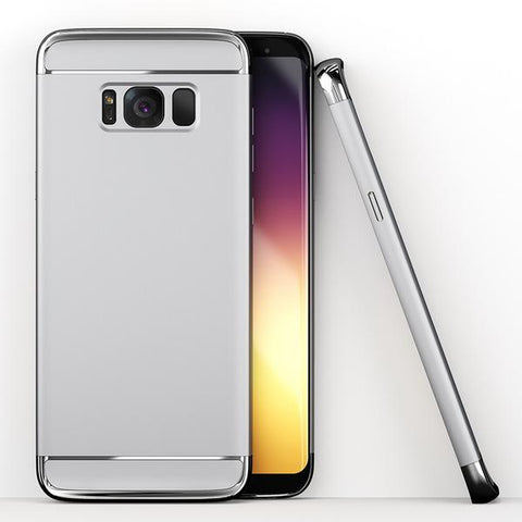 3in1 Samsung Galaxy S8 Plus Silber Hülle