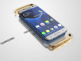 3in1 Samsung Galaxy S7 EDGE Blaue Hülle