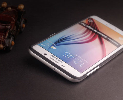 Samsung Galaxy S6 Edge Plus Silber Hülle